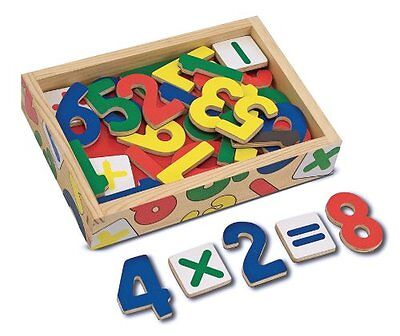 Melissa and Doug Magnetic Wooden Numbers , New, Free Shipping