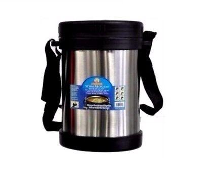Cookinex Wide Mouth Vacuum Stainless Steel Food Jug Flask Jar Thermos 33.8 Fl Oz