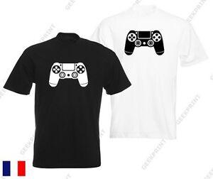 t shirt manette ps4 gamer geek playstation ps2 ps3 ps4 fan. Black Bedroom Furniture Sets. Home Design Ideas