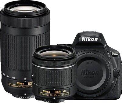 BRAND NEW Nikon D3400 24.2MP Black Digital SLR Camera 18-55 VR 70-300 KIT - $419.00