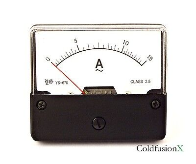 Ac 0-15a Analog Current Panel Meter