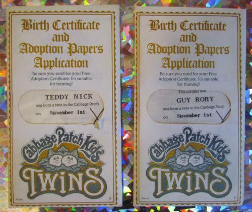 Birth Certificate Ebay