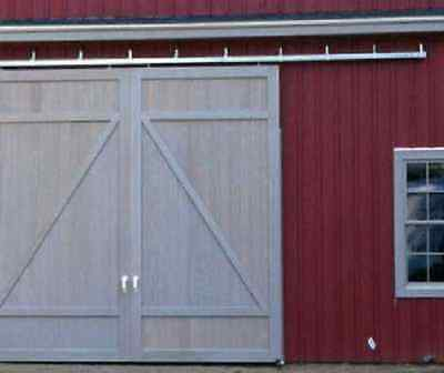 Barn Door Sliding Kit 12 Track For 2 Doors Up To 3 Ea.trolleys Brackets Usa