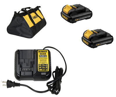 DEWALT DCB120R 2-Pack 12V MAX Li-Ion Batteries & DCB107R 12 Volt Battery Charger