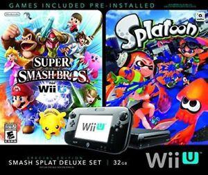 Black 32 GB Wii U + Super Smash Bros. & Splatoon