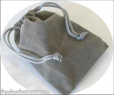 Jewelry Pouch Velourvelvet Type Pouch Lot Of 5 Grey Color