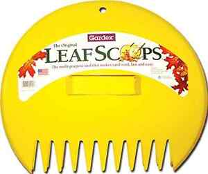 New 2 Garden Leaf Scoops Leaves Pick Up Hand Tool Outdoor Lawn Grass Waste Rake