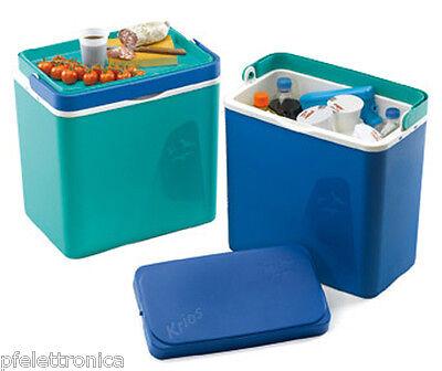 Borsa termica rigida frigorifero portabile per cibi bevande 32lt verde Plastime