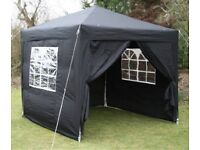 GAZEBO * Premium Quality * Waterproof * 2.5m x 2.5m BLACK **USED ONCE** Erects in 60 Seconds