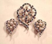 Vintage Pearl Rhinestone Earrings
