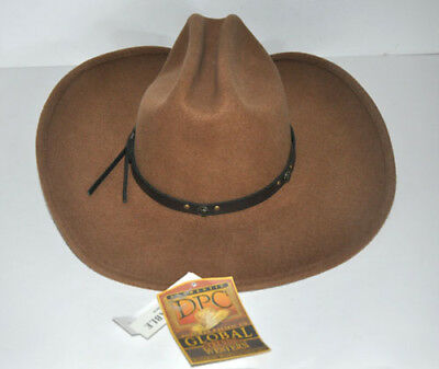 c9d2a9a14d8 Global Trends Western Brown 100% Wool Handmade Hat NWT