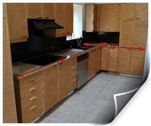 Armoire de cuisine avec électros et granite