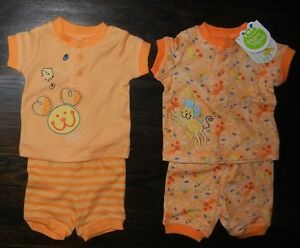 Gagou Tagou 2-Pc Newborn Outfits (1 New with Tags & 1 Like New)