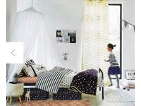 White Vert Baudet Cotton Bed Canopy