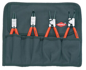 Knipex 00 19 56 Circlip Pliers Set, 4 parts 001956