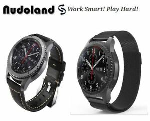 Samsung Gear S3 Frontier Classic Genuine Leather Strap + Milanes