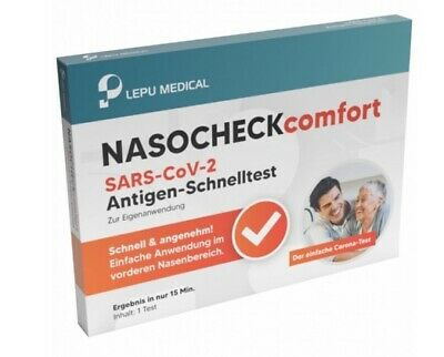 LEPU NASOCHECK Comfort Corona SARS CoV-2 Covid PoC-Antigen Selbst/Schnelltest