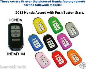 Silicone Rubber  Honda Odyssey with Smart Key Remote Cover - 4 Button