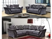 shannon corner jumbo cord or 3 And 2 seaters sofa in fabric