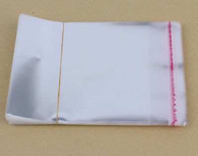 Wholesale 200pcs Clear Self Adhesive Lots DIY Jewelry Seal Plastic Bags 5x7cm E7