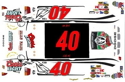 #40 Sterling Marlin Coors Kentucky Derby 1/64th HO Scale Slot Car Decals