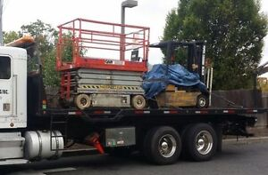 FLATBED SERVICE,TOWING,MOVING FORKLIFT,BOBCAT,MACHINERY