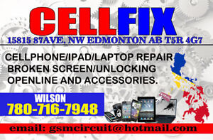 CELL PHONE, iPAD'S , SAMSUNG TABLET  SCREEN REPAIR AND UNLOCKING