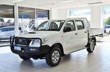 2013 Toyota Hilux KUN26R MY12 SR (4x4) White 5 Speed Manual Dual Cab Chassis Morley Bayswater Area Preview