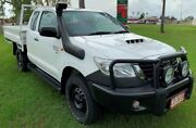 2014 Toyota Hilux KUN26R MY14 SR Xtra Cab White 5 Speed Manual Cab Chassis Berrimah Darwin City Preview