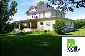 Stately 5 Bdrm Country Home On 3 Acres Near Olds - Listed by 2%