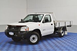 2010 Nissan Navara D22 MY08 DX (4x2) White 5 Speed Manual Cab Chassis Morley Bayswater Area Preview