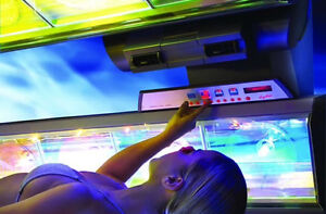 $ 20.= Tanning-Bronzage in a High Pressure Bed with Free Lotion