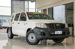 2012 Toyota Hilux TGN16R MY12 Workmate Double Cab White 5 Speed Manual Utility Wangara Wanneroo Area Preview
