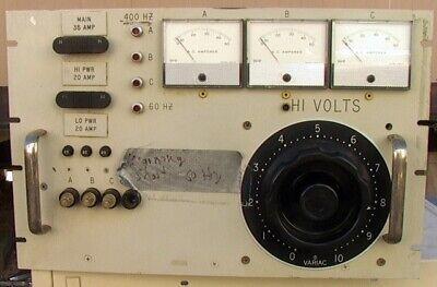 Rack Mount 400 Hz Military Frequency Variac 3-phase Amp Meters Breaker