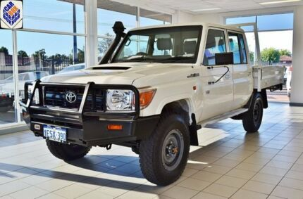 2013 Toyota Landcruiser VDJ79R MY12 Update Workmate (4x4) White 5 Speed Manual Cab Chassis Atwell Cockburn Area Preview
