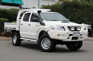 2013 Toyota Hilux KUN26R MY12 SR Double Cab Glacier 5 Speed Manual Cab Chassis