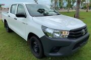 2017 Toyota Hilux GUN122R Workmate Double Cab 4x2 White 5 Speed Manual Utility Berrimah Darwin City Preview