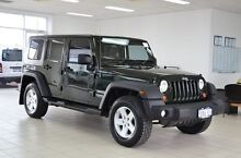 2010 Jeep Wrangler Unlimited JK MY09 Sport (4x4) Forest Green 6 Speed Manual Softtop Morley Bayswater Area Preview