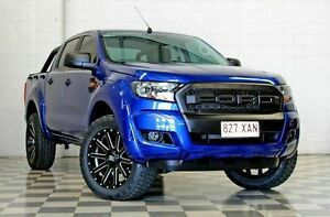 2016 Ford Ranger PX Mkii MY17 XLS 3.2 (4x4) Blue 6 Speed Automatic Dual Cab Utility Burleigh Heads Gold Coast South Preview