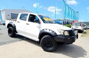 2009 Toyota Hilux KUN26R MY09 SR White 5 Speed Manual Dual Cab Woodridge Logan Area Preview