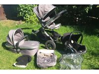 icandy peach jogger complete travel system glacier pushchair stroller