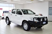 2013 Toyota Hilux KUN26R MY12 SR (4x4) White 4 Speed Automatic Dual Cab Pick-up Morley Bayswater Area Preview