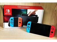Nintendo Switch 32GB Red/Blue Console in mint condition