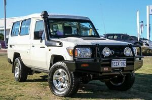 2013 Toyota Landcruiser VDJ78R MY13 Workmate Troopcarrier White 5 Speed Manual Wagon Wangara Wanneroo Area Preview