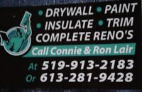 Lair's Drywall.. for all your drywall needs
