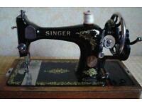 2 vintage sewing machines