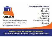 Property maintenance. Builder, electrician, carpenter, painter, gardener, windowcleaner, cleaner