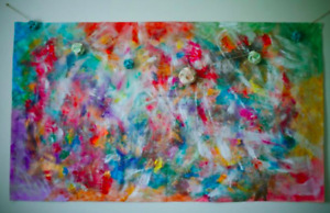 Bright colourful tapestry painting for sale!
