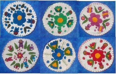 Tortilla Wärmer (Handmade Embroidered Tortilla Pouch Pocket Warmer Cotton Gauze Chiapas Mexico)