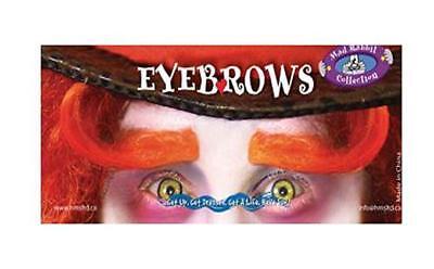 Mad Hatter Eyebrows (Mad Hatter Madhatter Eyebrows Orange Adult Halloween Costume)